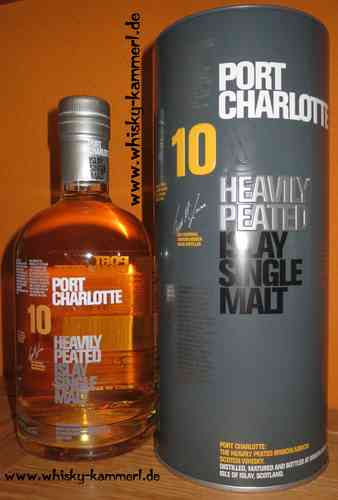 Port Charlotte - 10 Years - Heavily Peated - 46%