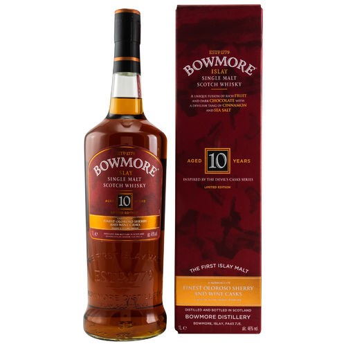 Bowmore - Devil's Casks Inspired - 10 Years - 46% - 1 Liter - Limited Edition