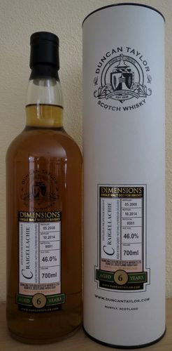 Craigellachie - 6 Years - 46% - Dimensions Collection - Duncan Taylor