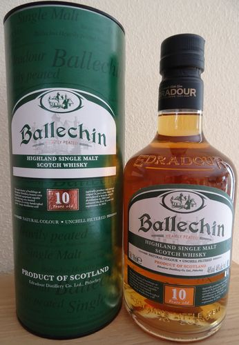 Ballechin - 10 Years - heavily peated - 46%