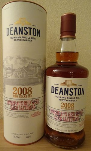 Deanston 2008 - 9 Years - Bordeaux Red Wine Cask Matured - 58,7%