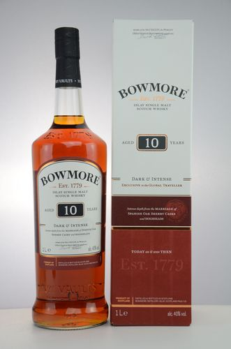 Bowmore - 10 Years - Dark & Intense - 40% (1 Liter)