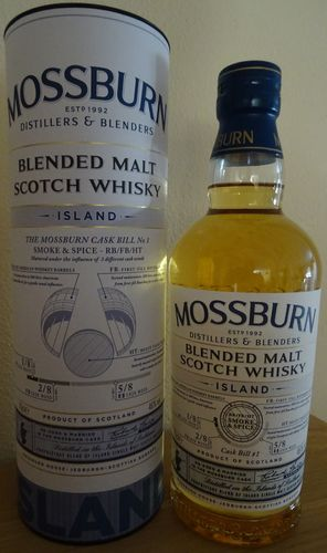 Mossburn - Island - 46% - Cask Bill No. 1 - Blended Malt