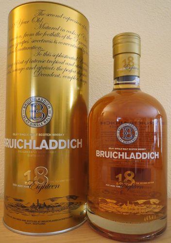 Bruichladdich - 18 Years - Oak Casks - Second Edition - 46%