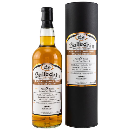 Ballechin - 9 Years - Sherry Cask Matured - Cask No.: 340 - 46%