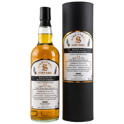 "Ledaig - 12 Years - 2007/2020 - Signatory - ""Refill Sherry Butt Matured"" - 59,2% - (Cask No. 700583)"