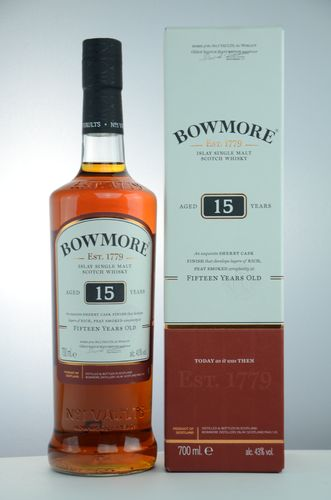 Bowmore - 15 Years - Sherry Cask Finish - 43%